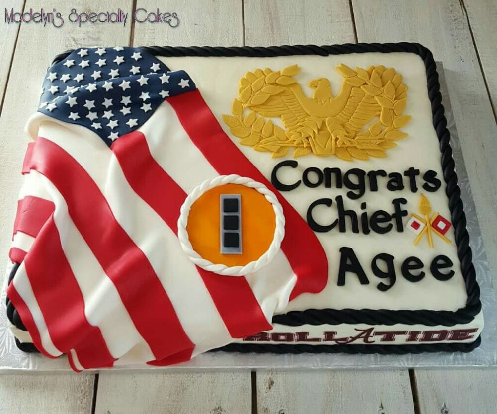 Birthday Cakes For Army Officer