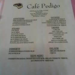 Cafe Pedigo S Walker La