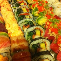 Hinode Japanese Restaurant - Piermont, NY, United States. Bunch of Rolls