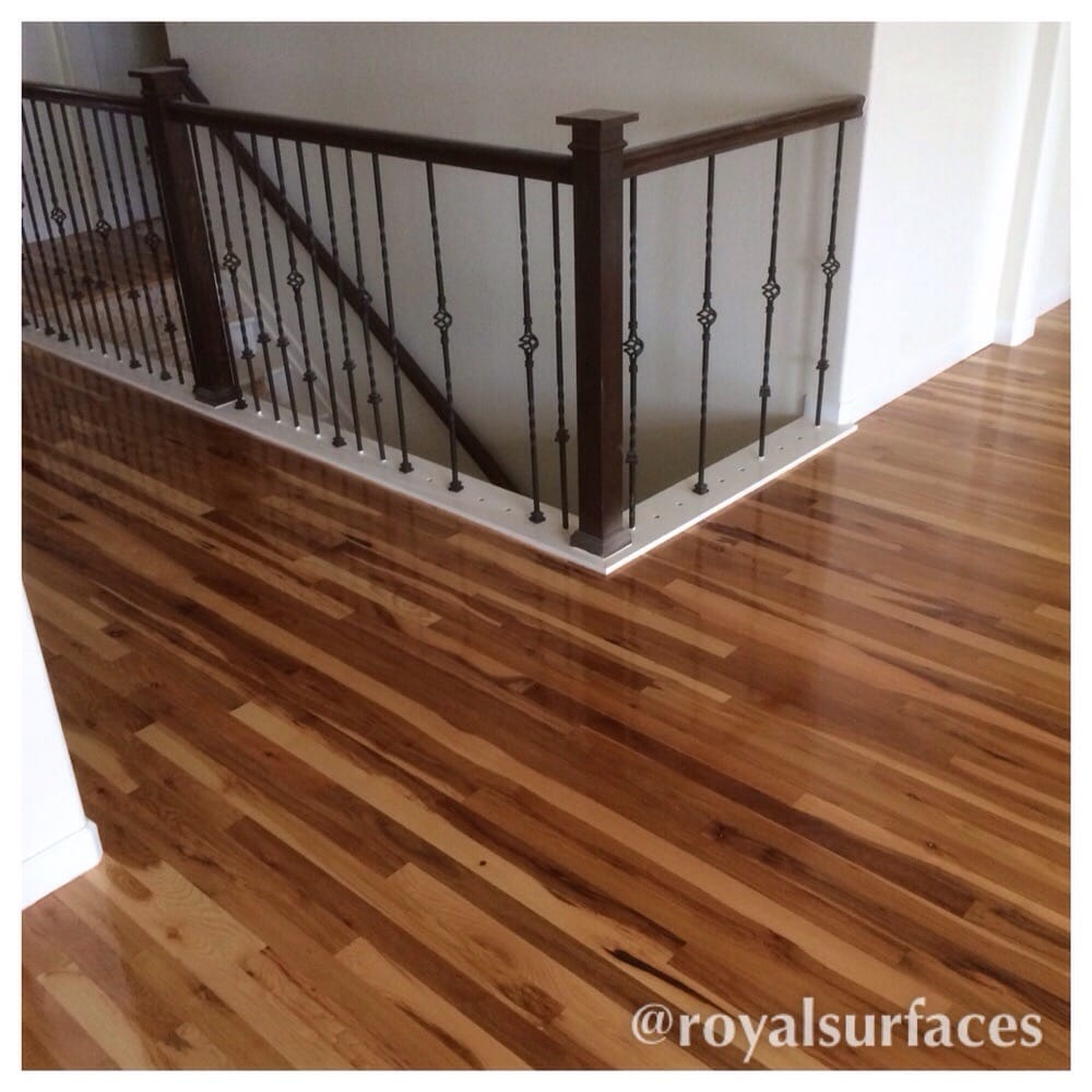 Hickory Hardwood Floors Finished Natural With Oil Based