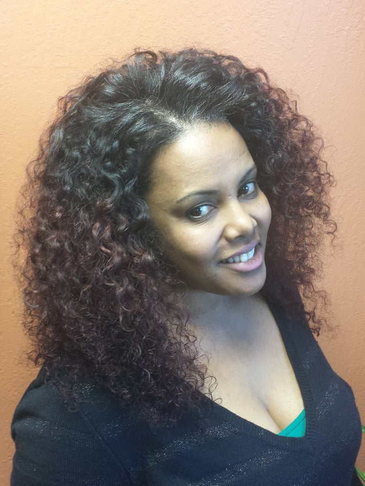 Full Sew In Human Hair Extensions With Curly Spanish Wave 12 Inch