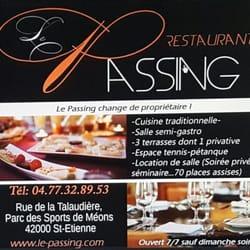 Le passing franz sisch rue de la talaudi re saint for Restaurant la talaudiere