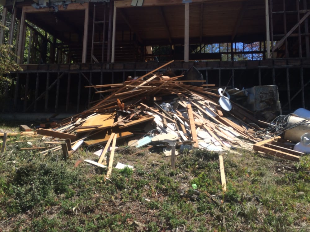 Pile Of Building Debris : Large pile of construction debris what you cant see is