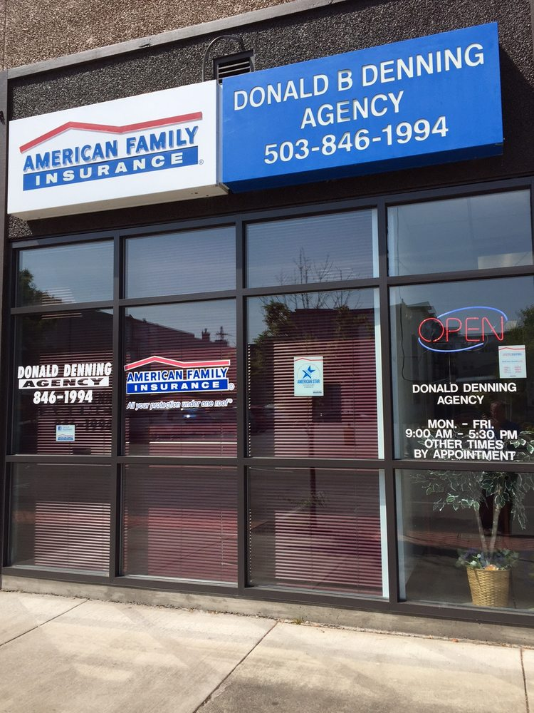 American Family Insurance - Donald B Denning Agency, Inc.-Donald Denning | 111 SE 3rd Ave Ste A, Hillsboro, OR, 97123 | +1 (503) 846-1994