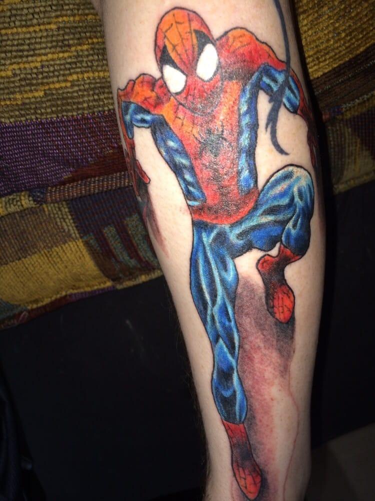 Spider man by ryan c yelp for Jade dragon tattoo