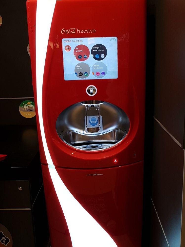 Free refill Getränkeautomat mit vielen Softdrink-Optionen - Yelp