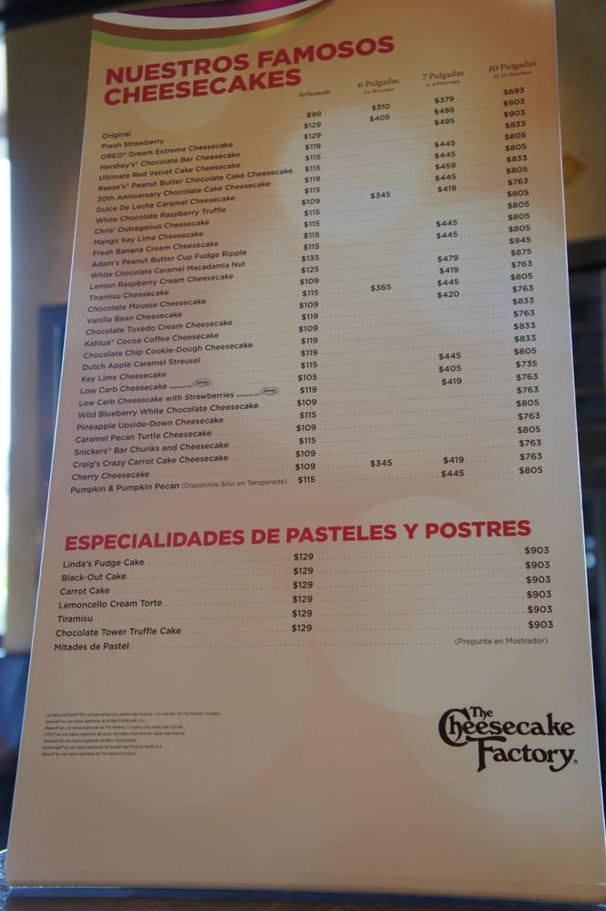 cheesecake factory menu prices pdf