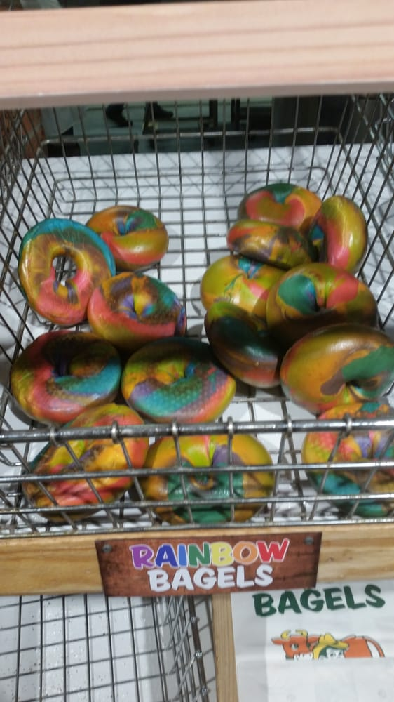 Something New Rainbow Bagels Yelp