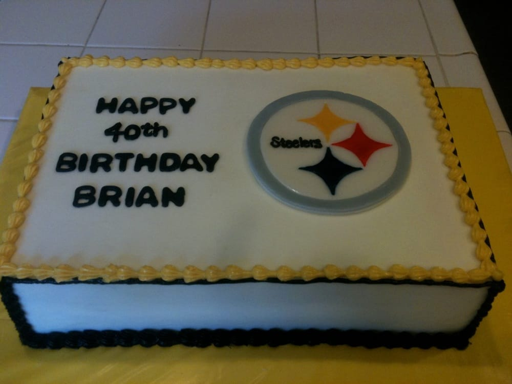 steelers birthday cake steelers fan sheet cake yelp 7699