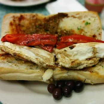 ... States. Grilled chicken and garlic bread sub with fresh mozzarella
