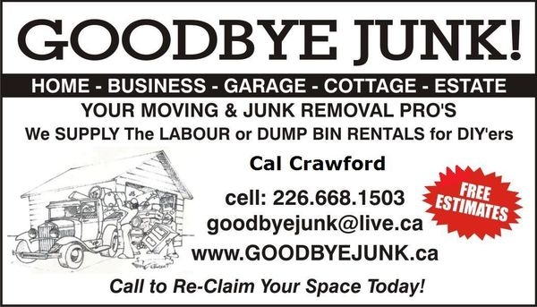 Goodbye junk movers junk removal hauling owen sound on photo of goodbye junk movers owen sound on canada business card colourmoves