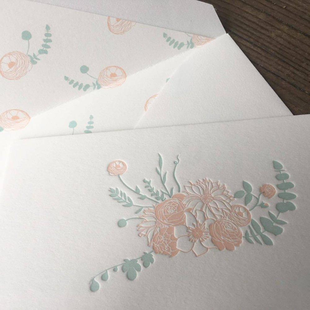 Custom letterpress wedding invitations. - Yelp
