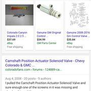 exhaust camshaft position actuator solenoid autozone