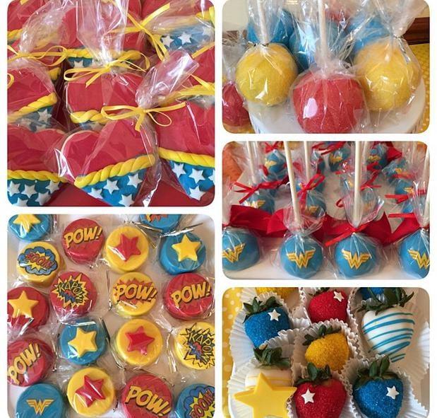 Wonder Woman Inspired Birthday Treats