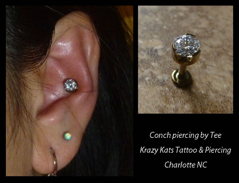 Surface Piercing By Tee Miller App Member At Krazy Kats Tattoo Yelp