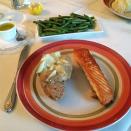 Giulio's Restaurant - Tappan, NY, United States. Grilled salmon