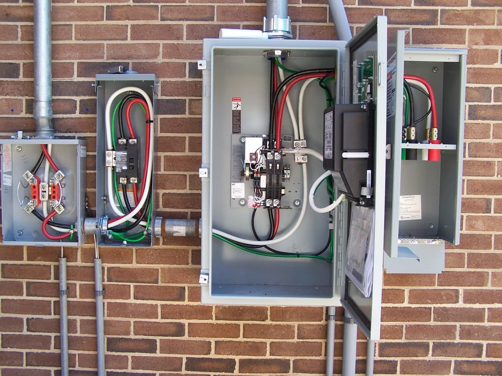 New 200 Amp Commercial Electrical Service With Automatic Transfer Switch And Generator Interface