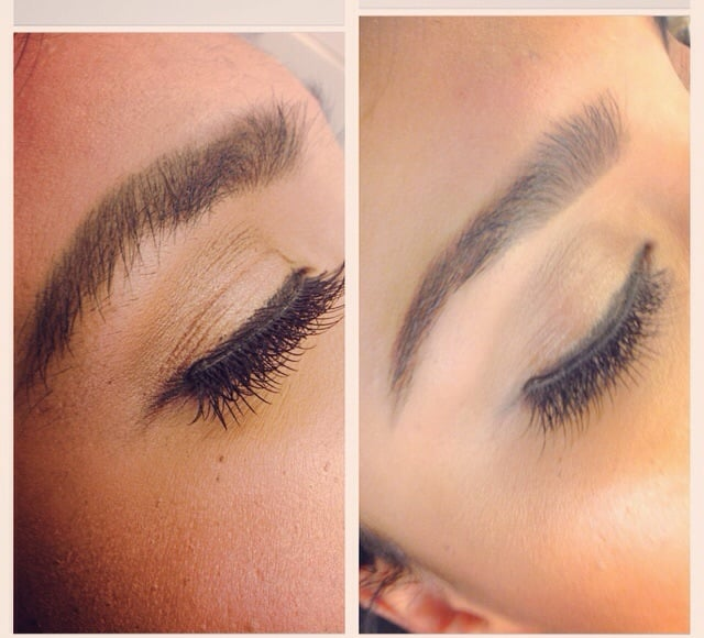 Before Eyebrow Wax After Eyebrow Wax Using Brow Wiz And Dip Brow To