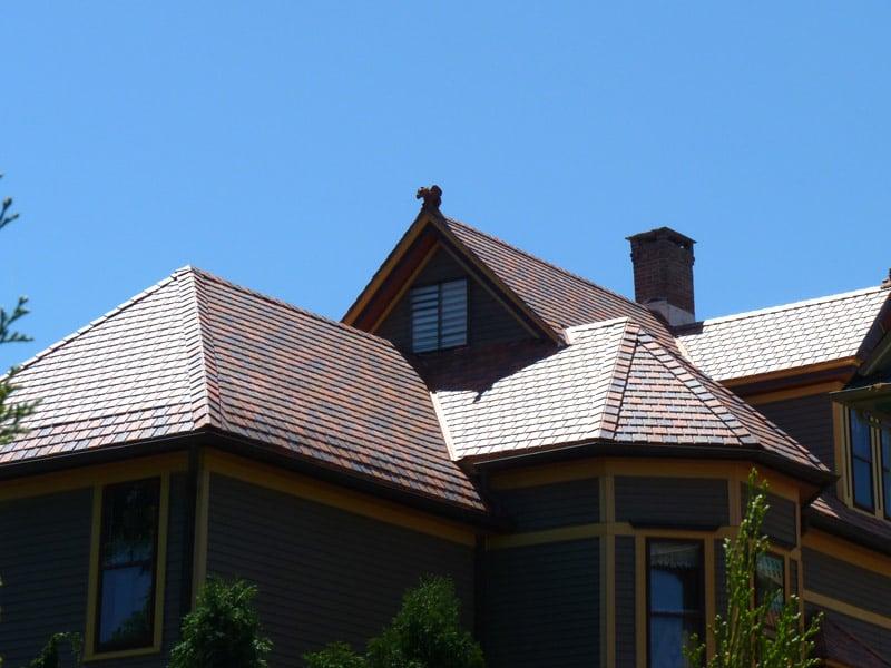 Davinci Synthetic Slate Terracotta Blend Roof Installation