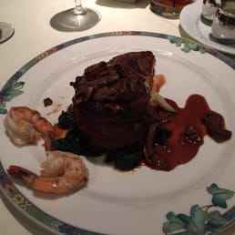 The Park Steakhouse - Park Ridge, NJ, United States. Steak & poached shrimp!!