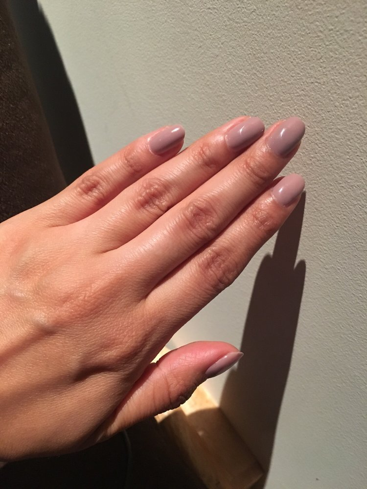 Two coats of gel OPI Taupe-Less Beach. Similar color for toes used ...