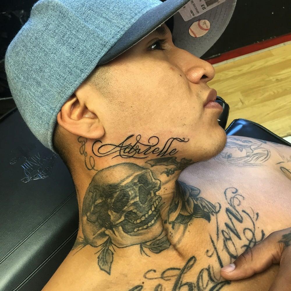 Jaw Line Tattoos