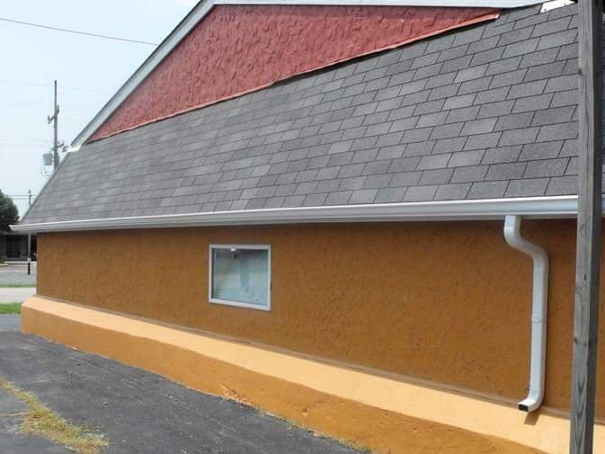 Alco seamless gutters: 4957 White Deer Ln, Brighton, IL