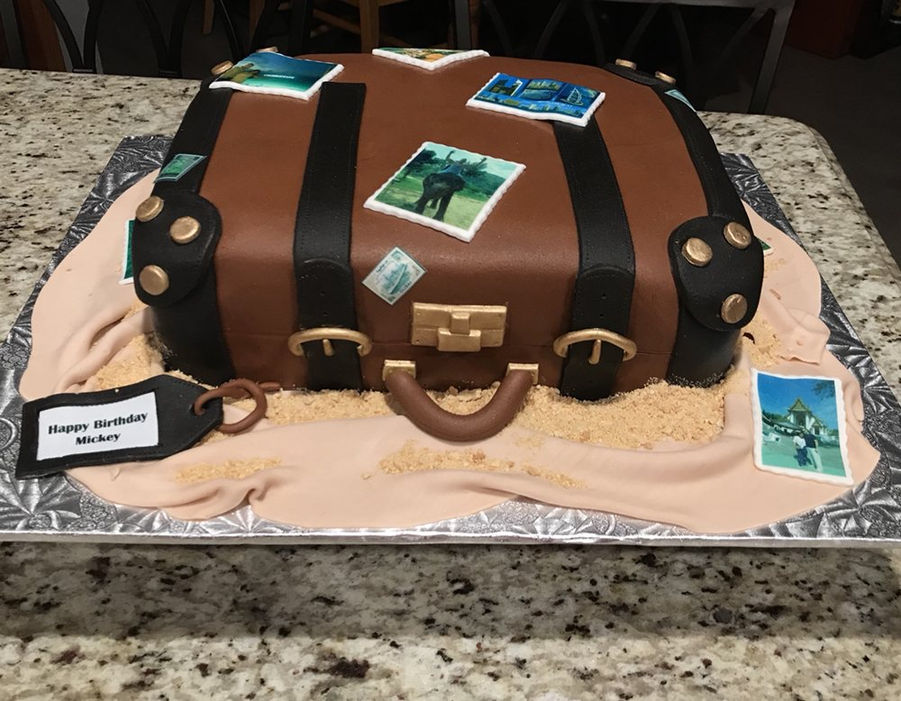 Travel Luggage Cake For A Birthday Party Rum Flavor With Dulce De