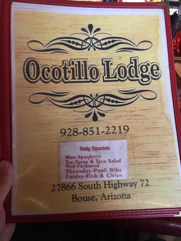 Ocotillo Lodge and Bar: 27866 S Hwy 72, Bouse, AZ