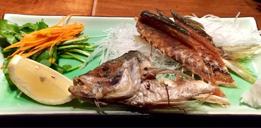 Fried fish bones course of the 85 omakase menu yelp for Good fried fish near me