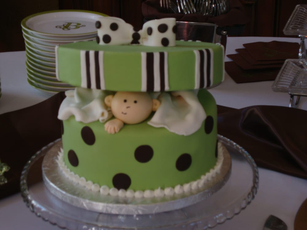 Baby In A Gift Box Baby Shower Cake Yelp