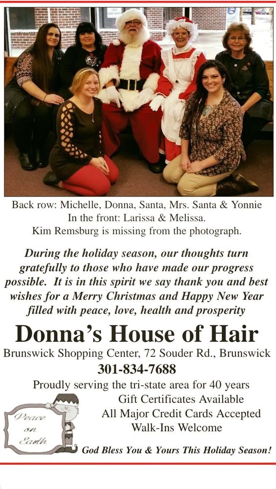 Donna's House of Hair & Tanning: 72 Souder Rd, Brunswick, MD