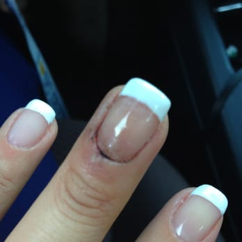 Photo Of Unique Nails Irvine Ca United States French Manicure Done Wrong