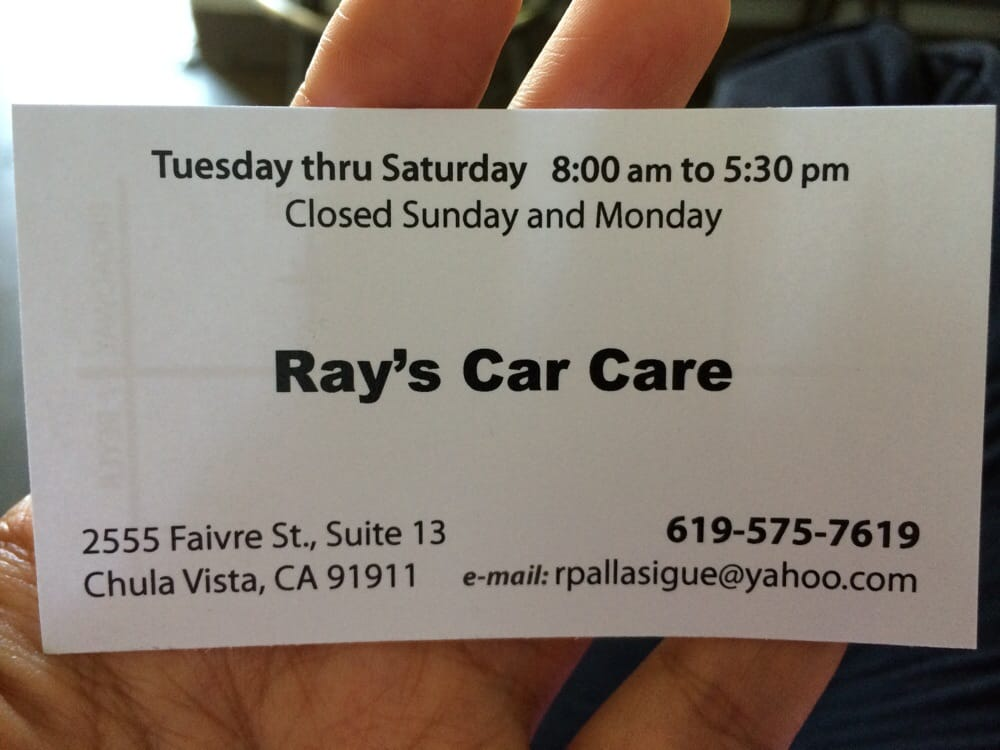 Business card yelp photo of rays car care chula vista ca united states business card reheart Choice Image