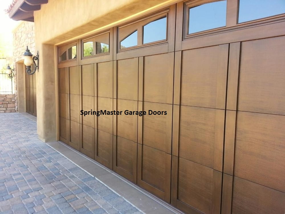 Installed 2 18 Foot Wide By 8 Tall Garage Doors With Madison Arch Gl Top And Walnut 606 Stain Yelp