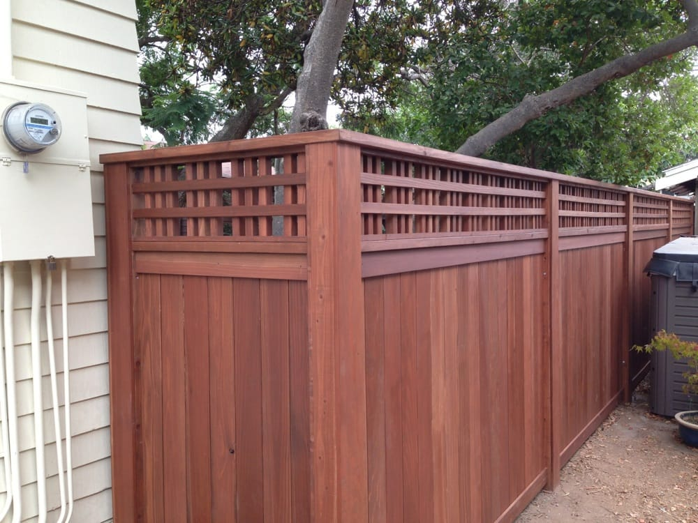 Stained Redwood With Custom Lattice Top Yelp