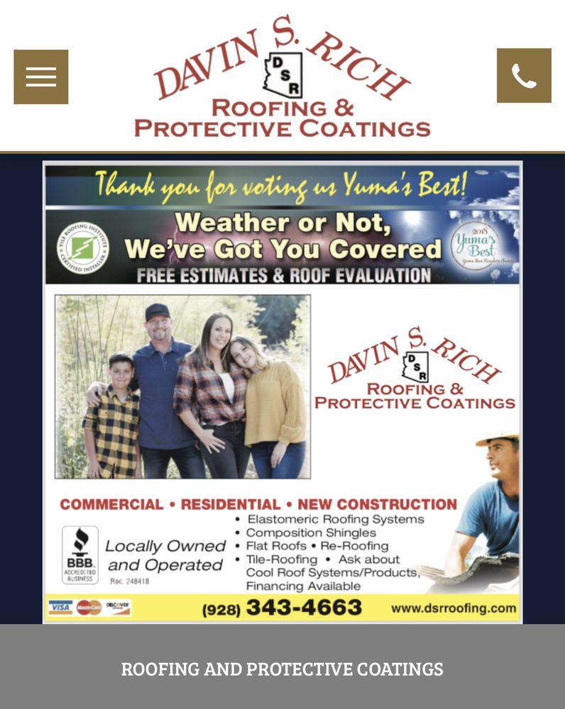 Davin S Rich Roofing & Protective Coatings: 1700 S 1st Ave, Yuma, AZ