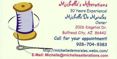 Michelle's Alterations: 2026 Kingston Dr, Bullhead City, AZ