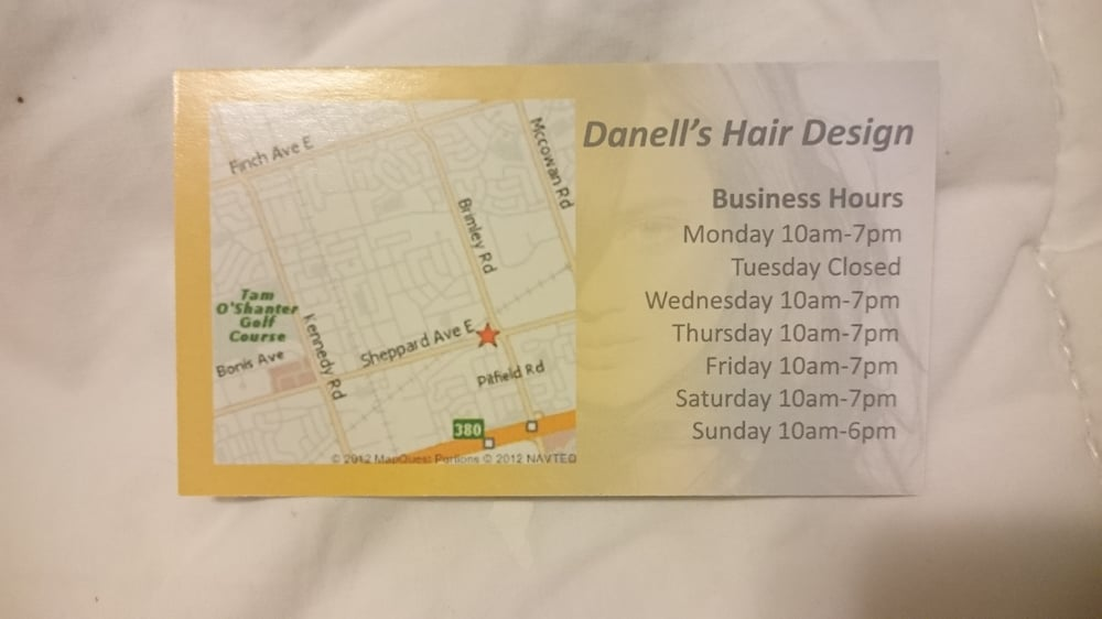 Business Card with Business Hours - Yelp