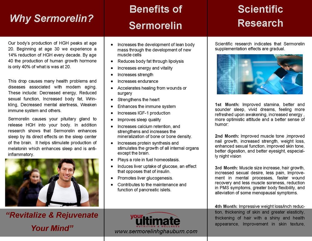 HGH Therapy with Sermorelin Brochure - Yelp