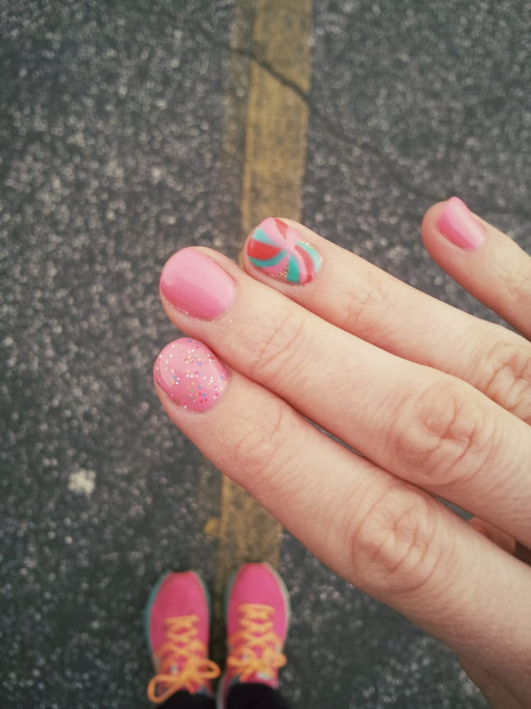 My gel manicure at Luxe Nail Bar and Salon in Tucker! - Yelp