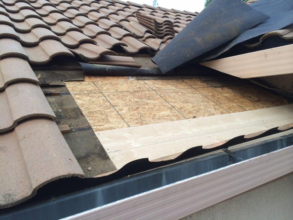 Tile Roof Leak Valley Leak Dry Rot Repair Yelp