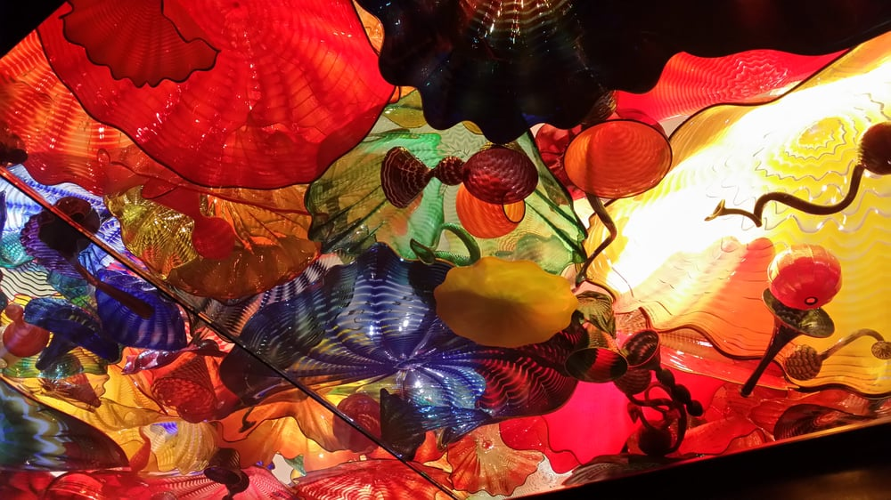Small section of the persian ceiling ceiling is massive - Chihuly garden and glass groupon ...