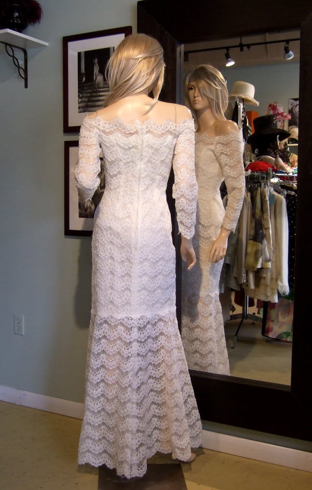 Vintage Arnold Scaasi Mod Fishtail Wedding Gown Yelp