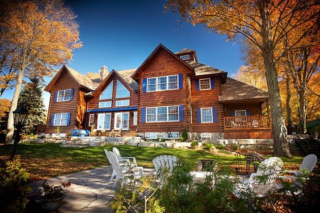 Log home kawarthas yelp for Colonial log homes