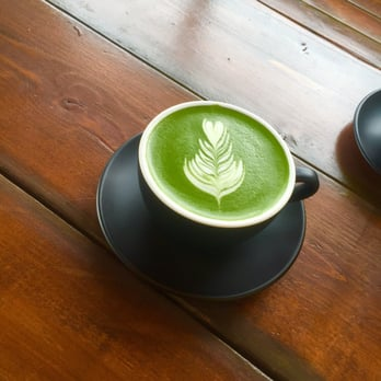 Photo Of Coffee Monster Coquitlam Bc Canada My Tasty Green Tea Latte