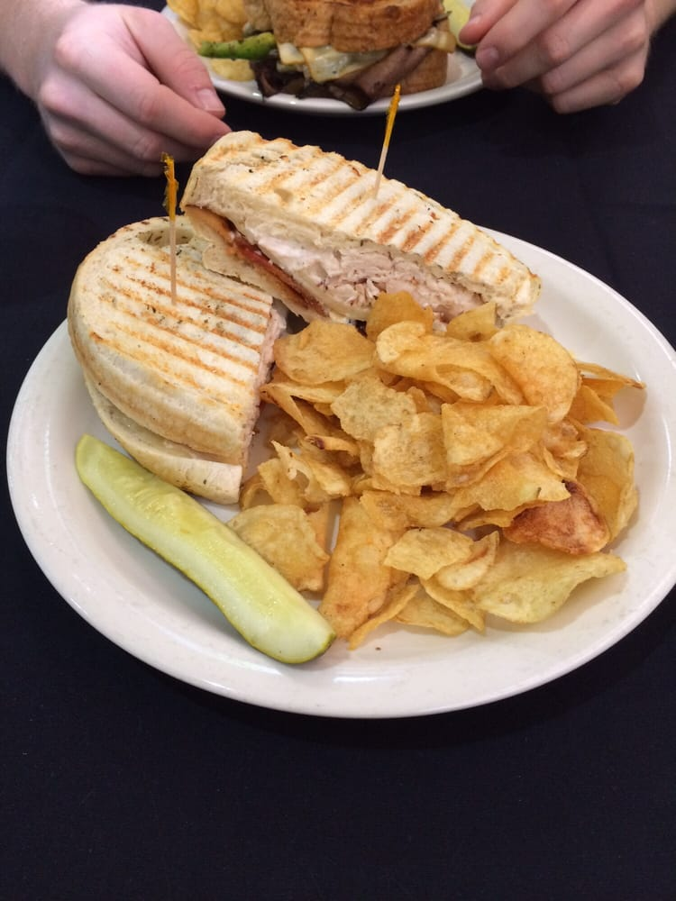 Chicken bacon ranch panini at lunch! - Yelp