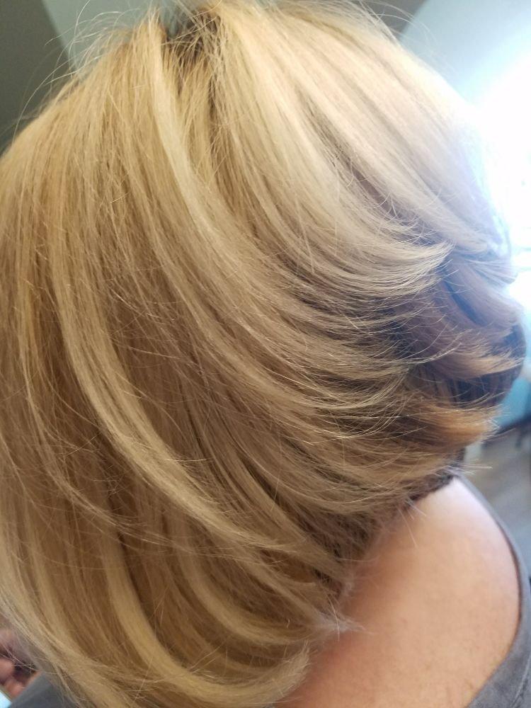 Beautiful Highlighted Bob Haircut Yelp