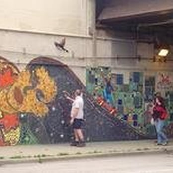 Foster avenue underpass mural public art foster avenue for Mural in chicago illinois