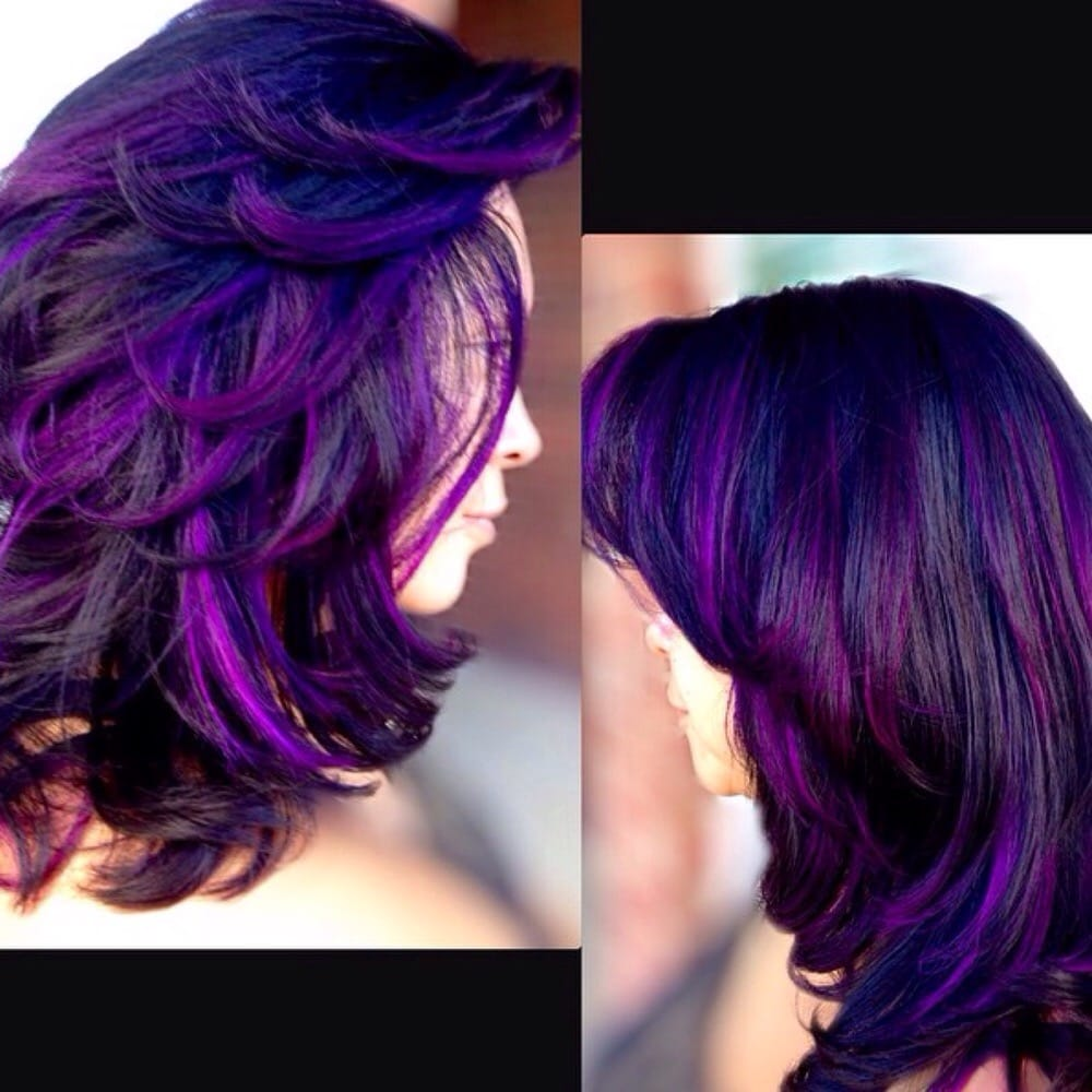 Violet Ombre Peek A Boo Highlights Erika Loya Suite 4 Yelp